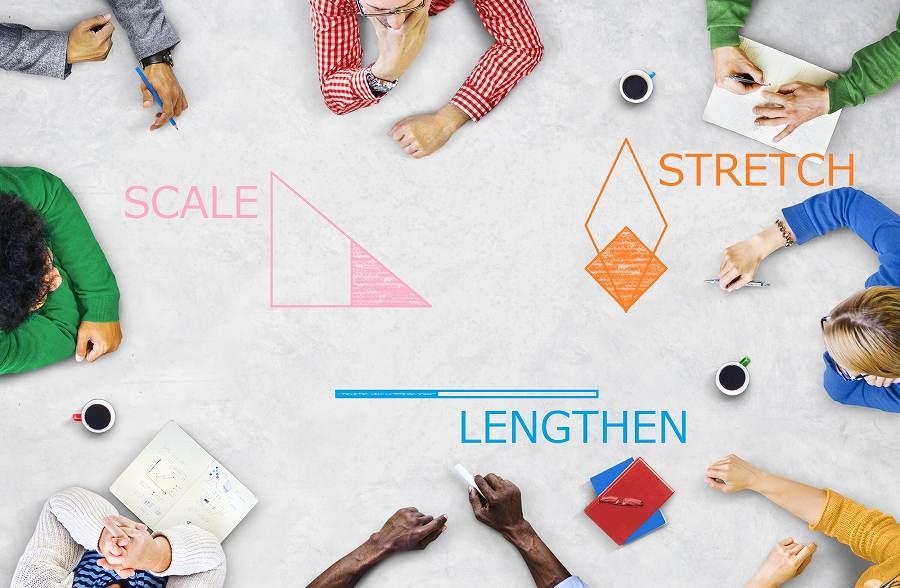 尺度変更・長さ変更・ストレッチの使い方などを解説【AutoCAD】